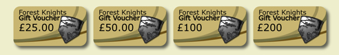 forest knights gift vouchers in a line small